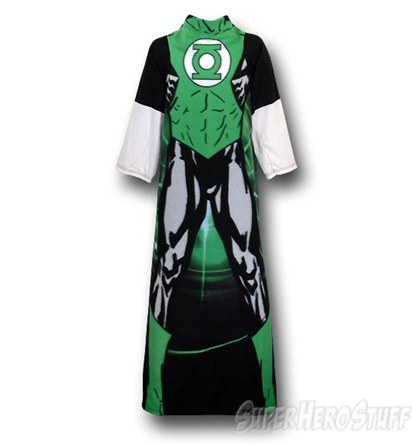 Green Lantern Costume Snuggy Sleeved Blanket