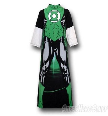 Green Lantern Costume Snuggy Sleeved Blanket