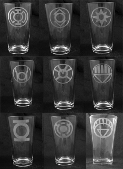 Blackest Night Corps Etched Pint Glass Set