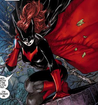 Batwoman is a redhead