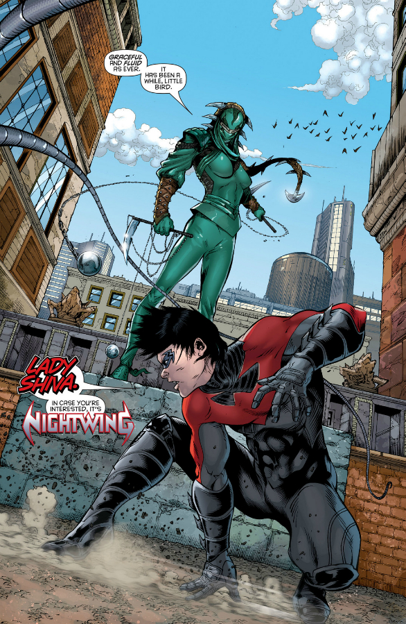 """What do you suppose that """"NIGHTWING"""" font sounds like?"""