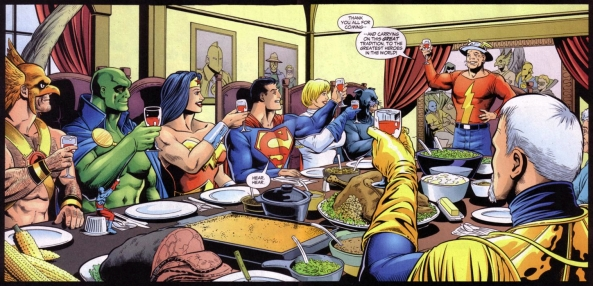 Because Power Girl was there, nobody felt comfortable asking for breast meat