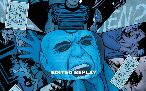 "Why they have an ""edited replay"" of Dr. Manhattan taking a shit is beyond me"