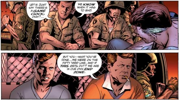 Eddie hallucinates the Kennedys