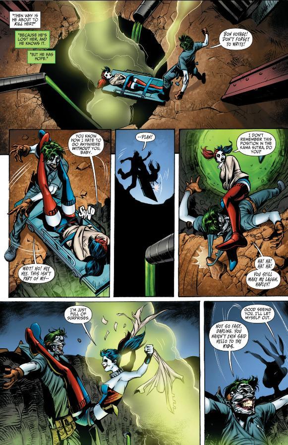 Harley Quinn escapes Joker's trap