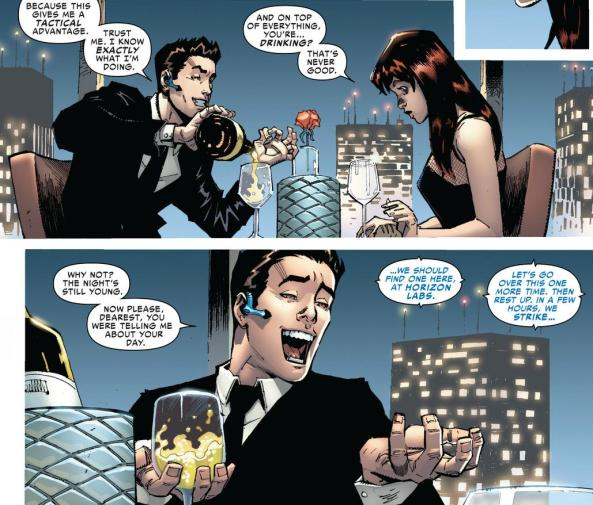 (Otto) Peter Parker on a date with MJ