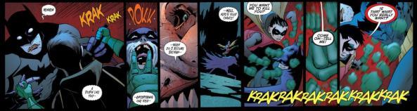 Robin pummels Batman