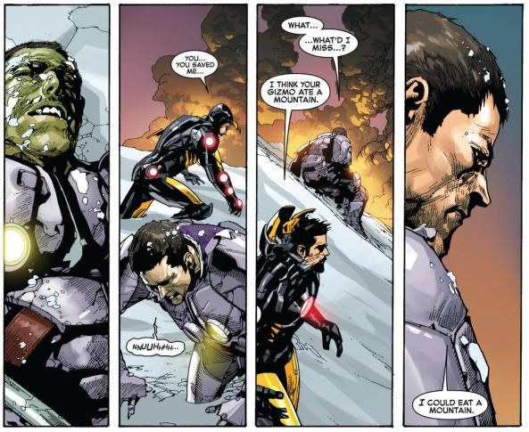 Tony Stark and Bruce Banner reflect on what Hulk did