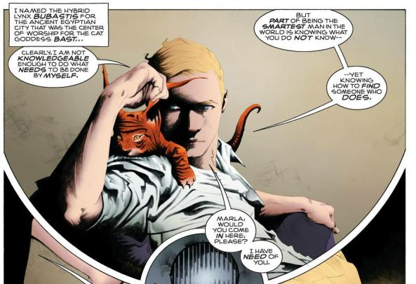 Adrian Veidt and kitten Bubastis