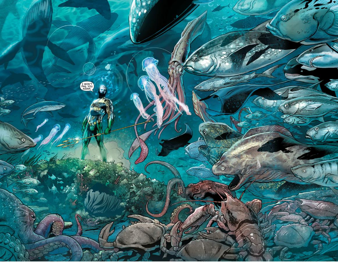 Aquaman 17 retcon punch for All the fish
