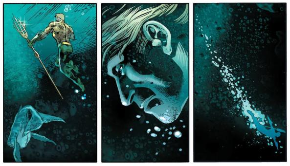Aquaman says good bye to his whale friend