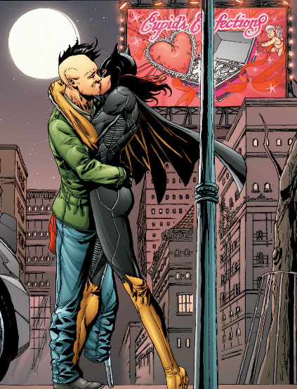 batgirl kissing