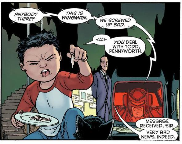 Damian doesn't eat chicken, but he recognizes that his kitty might want some
