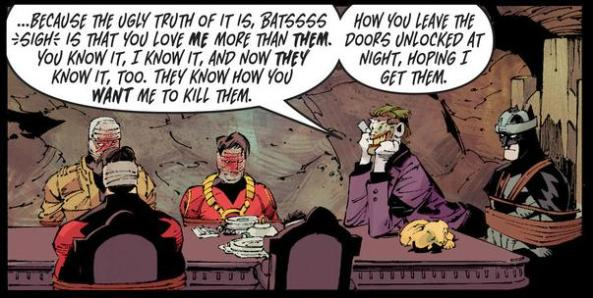 Joker and the batfamily Death of the Family finale