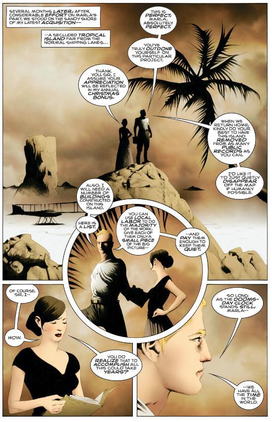 Ozymandias discovers his island