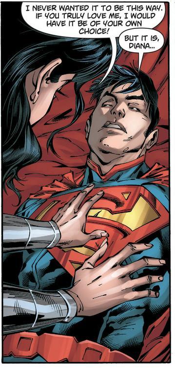Superman takes a love bullet