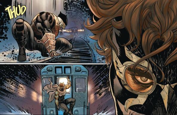 Talon escapes the Gotham Butcher