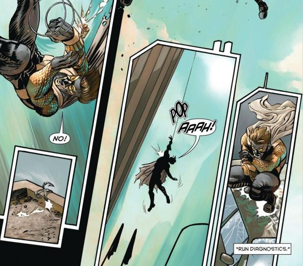 The Gotham Butcher throws Calvin out a window