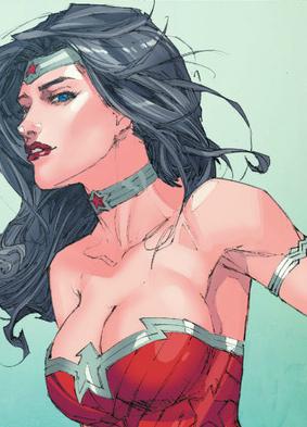 Wonder Woman's bazoongas