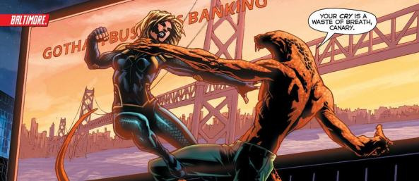Black Canary fights Copperhead