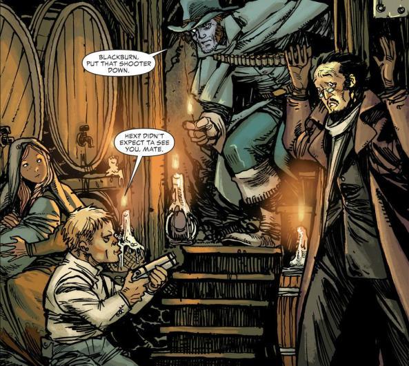 Hex and Arkham take refuge underground