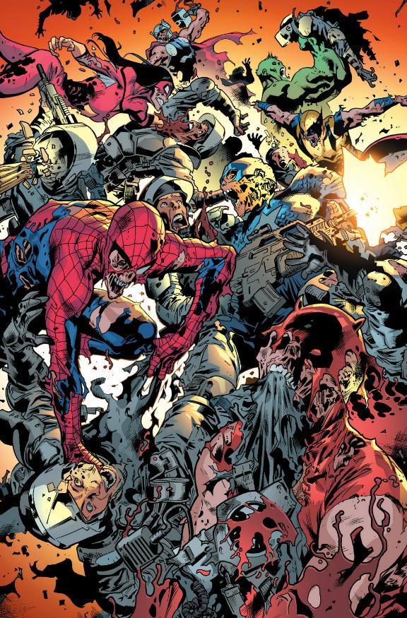 Lady Mastermind, Zombie Spider-Man, Zombie Spider-Woman, Zombie Thor, Zombie Hulk, Zombie-Wolverine, Zombie Captain America, Zombie Spider-Woman