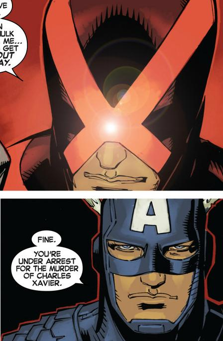 X Cyclops vs A Captain America