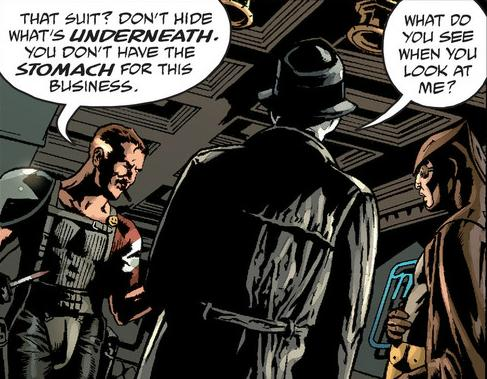 Comedian Rorschach and Nite Owl