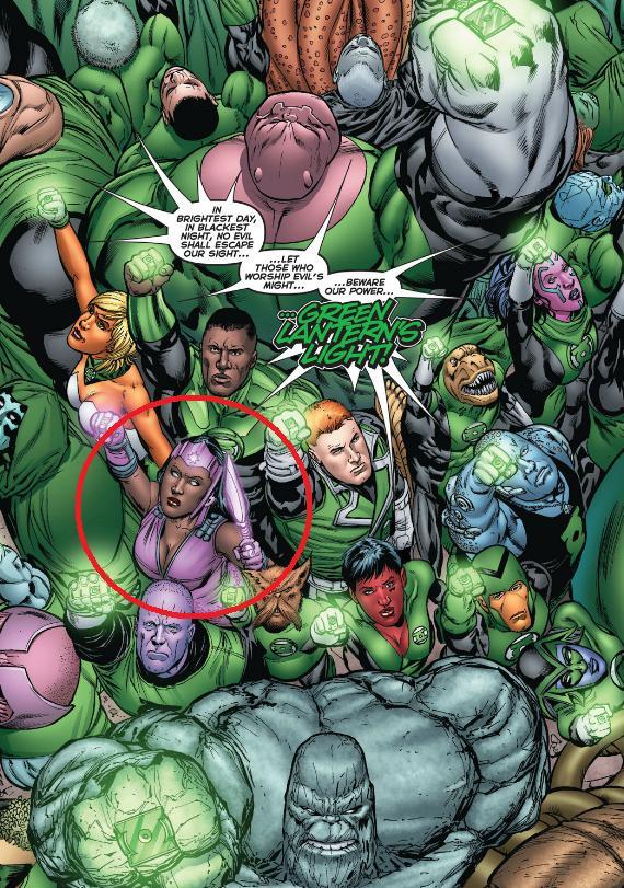 Green Lantern Corps recites the Oath Fatality Guy Gardner John Stewart, Kilowog Arisa Rab Soranik Natu Hannu Isomat Princess Iolande Sodom Yatt