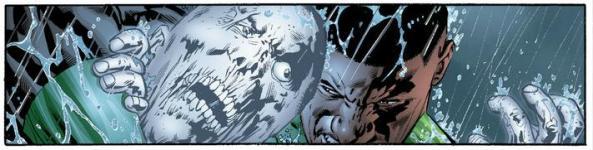 Green Lantern John Stewart vs. Black Lantern John Stewart