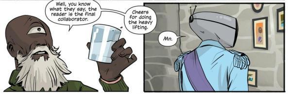 Heist toasts the reader (Prince Robot IV Saga 12)