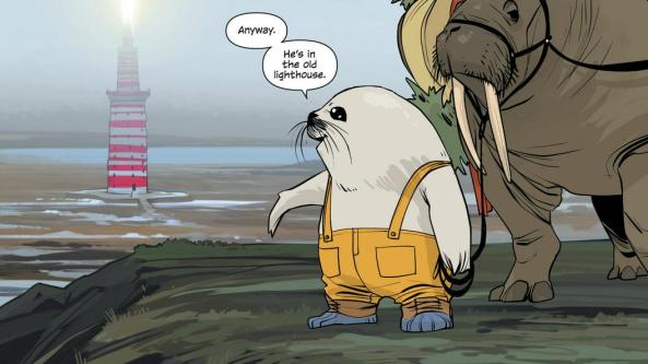 Seal Man in Saga is adorable