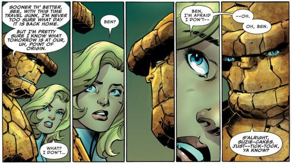 The Thing is offending Sue Storm didn't remember his turing-human day