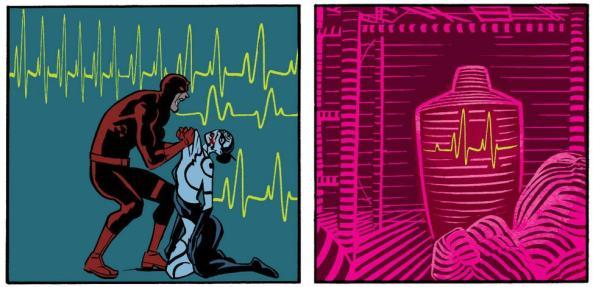 Daredevil vs Lady Bullseye and Sarcophagus Bullseye