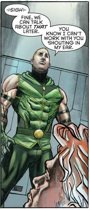 Green Arrow scolds Arsenal