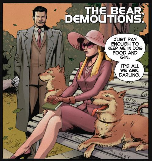 Howard Stark approaches The Bear (and her dogs)
