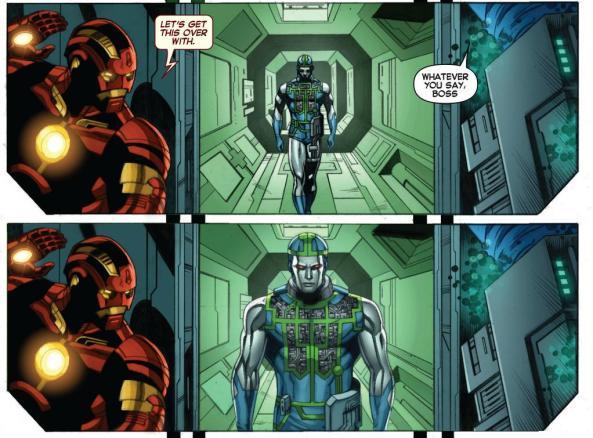 Iron Man and Death's Head lie in wait to ambush 451