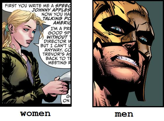 Men are from Thanagar, Women are from Los Angeles