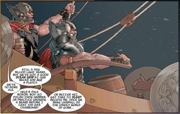 Thor the Aveger and King Thor sail the high-space