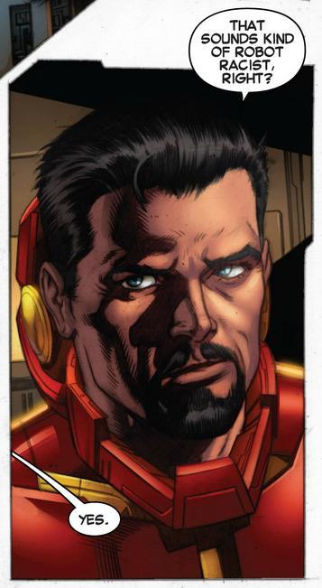 Tony Stark is Robot Racist