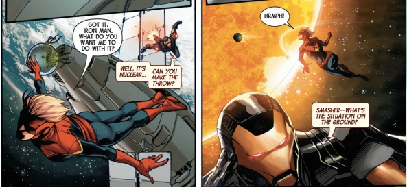 Ask me again and I'll throw YOU into the sun, Tony
