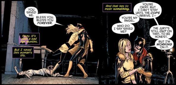 Batgirl save the Gotham's got Talent Judge