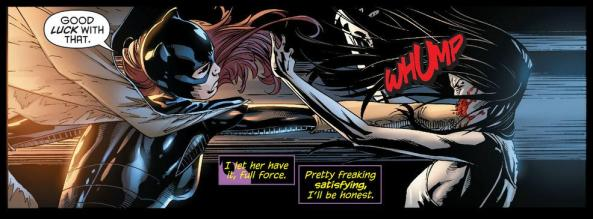 Batgirl Ventrioloquist one punch KO