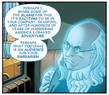 Ben Franklin bails on Deadpool