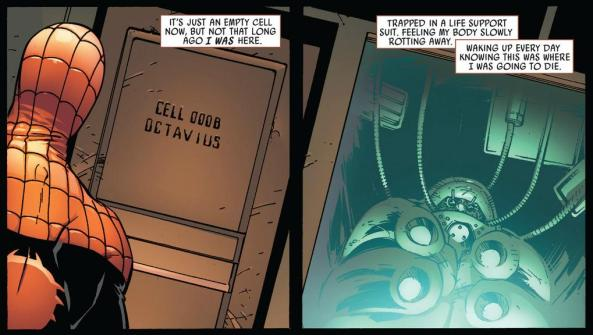 Spider Man remembers being Octor Octopus