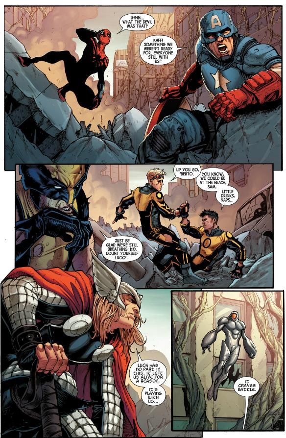 Cap, Spidey Wolverine and Thor who