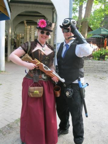 Steampunk Superhero Cosplay at the Bristol Renaissance ...