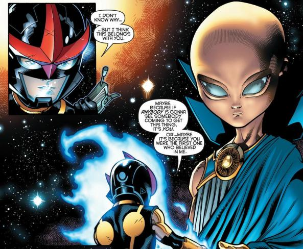 Sam hands the ultimate Nullifier over to the Watcher
