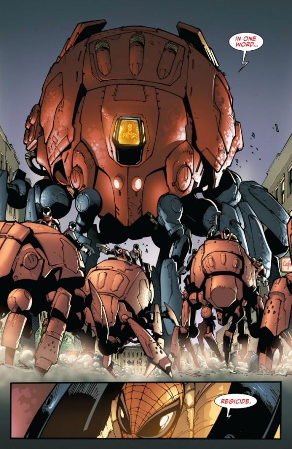 """""""Spins a web/any size/catches bad guys/regicide"""""""