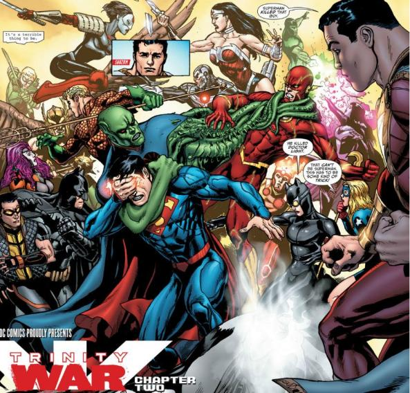 The Justice League fights the Justice League of America